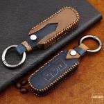 Premium Leder Cover passend für Mazda Schlüssel + Anhänger  LEK60-MZ2