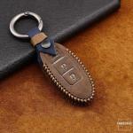 Premium Leder Cover passend für Nissan Schlüssel + Anhänger  LEK60-N5