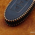 Premium Leder Cover passend für Nissan Schlüssel + Anhänger  LEK60-N6