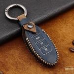 Premium Leder Cover passend für Nissan Schlüssel + Anhänger  LEK60-N8