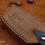 Premium Leder Cover passend für Toyota Schlüssel + Anhänger  LEK60-T5