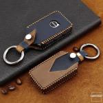 Premium Leder Cover passend für Volvo Schlüssel...