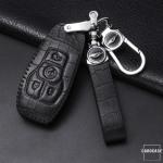 KROKO Leder Schlüssel Cover passend für Ford...