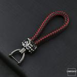 Lederband - Schlüsselanhänger mit Kristallband SAR36
