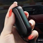 Silikon Alcantara Schutzhülle passend für Honda Schlüssel + Lederband + Karabiner  SEK12-H12