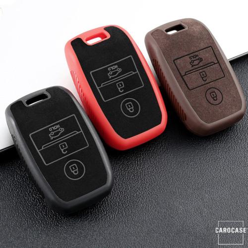 Cover Guscio / Copri-chiave silicone, Pelle Alcantara compatibile con Kia K7