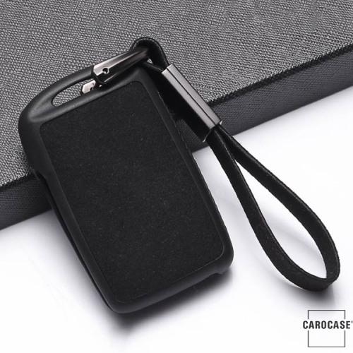 silicona, Cuero Alcantara funda para llave de Mazda MZ5 negro