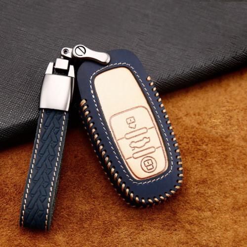 Cuero de primera calidad funda para llave de Audi AX4