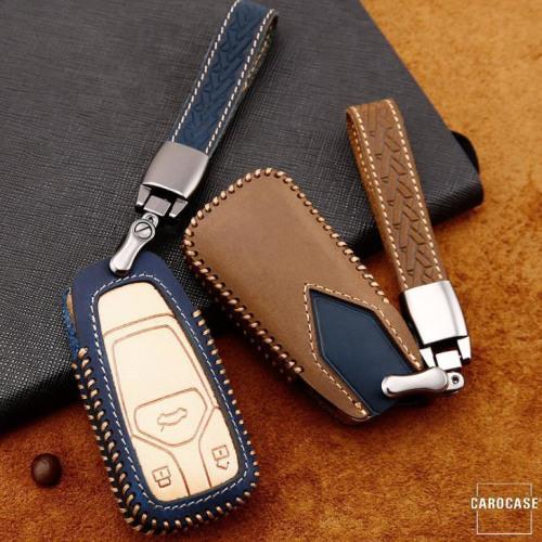 Coque de protection en cuir de première qualité pour voiture Audi clé télécommande AX6