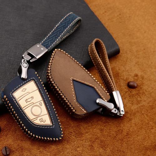 Coque de protection en cuir de première qualité pour voiture BMW clé télécommande B6, B7