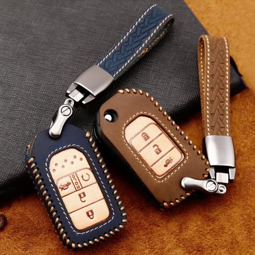Cuero de primera calidad funda para llave de Honda H9