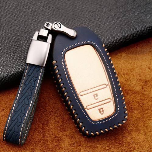 Premium Leder Cover passend für Toyota Autoschlüssel inkl. Lederband und Karabiner  LEK31-T3