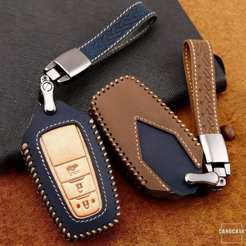 Premium Leather key fob cover case fit for Toyota T5, T6 remote key