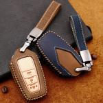 Premium Leder Cover passend für Toyota Autoschlüssel inkl. Lederband und Karabiner  LEK31-T6