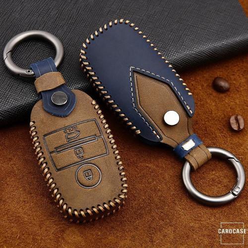 Premium Leder Cover passend für Kia Schlüssel + Anhänger  LEK60-K7