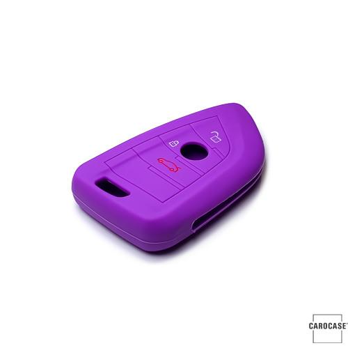 Coque de protection en silicone pour voiture BMW clé télécommande B6 pourpre