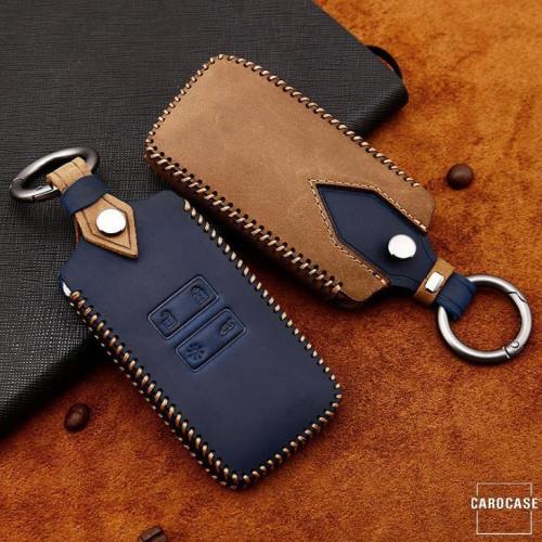 Premium Leder Cover passend für Renault Schlüssel + Anhänger  LEK60-R12