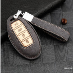 Premium Schlüssel Cover + Lederband für Nissan Schlüssel  LEK59-N8