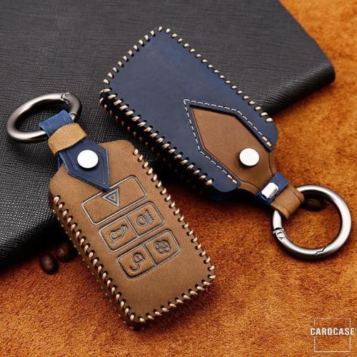 Cuero de primera calidad funda para llave de Land Rover, Jaguar LR1