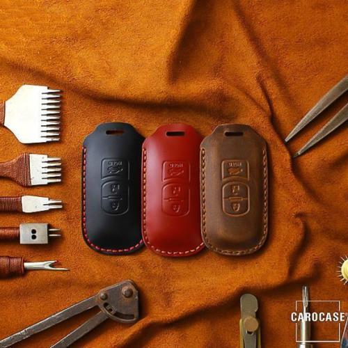 Coque de protection en cuir pour voiture Mazda clé télécommande MZ1, MZ2