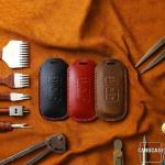 PREMIO Leder Schlüssel Cover passend für Mazda...