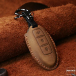PREMIO Leder Schlüssel Cover passend für Nissan...