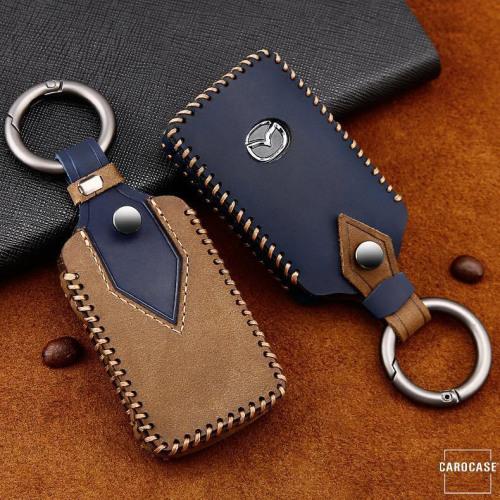 Coque de protection en cuir de première qualité pour voiture Mazda clé télécommande MZ5