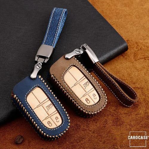 Coque de protection en cuir de première qualité pour voiture Jeep, Fiat clé télécommande J5