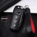 Carbon-Look Cover für Audi Schlüssel schwarz HEK21-AX7-1