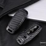 Carbon-Look Cover passend für Audi Schlüssel...