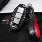Carbon-Look Cover passend für Nissan Schlüssel schwarz HEK21-N7-1