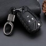 Silikon Carbon-Look Schlüssel Cover passend für Opel Schlüssel schwarz SEK3-OP6