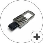 Schlüssel Cover mit Silikon Tastenabdeckung (Leuchtend) passend für Hyundai Autoschlüssel anthrazit HEK54-D7-37