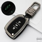 Schlüssel Cover mit Silikon Tastenabdeckung (Leuchtend) passend für Hyundai Autoschlüssel  HEK54-D6