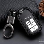 Silikon Carbon-Look Schlüssel Cover passend für Honda Schlüssel schwarz SEK3-H11