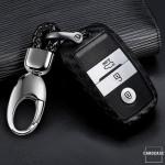 Silikon Carbon-Look Schlüssel Cover passend für Kia Schlüssel schwarz SEK3-K7X