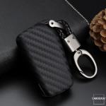 Silikon Carbon-Look Schlüssel Cover passend für Toyota Schlüssel schwarz SEK3-T2