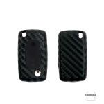 Silikon Carbon-Look Cover Peugeot schwarz SEK3-PX1-PX2