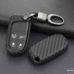 Silikon Carbon-Look Cover Jeep schwarz SEK3-J4