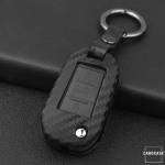 Silikon Carbon-Look Schlüssel Cover passend für Opel, Citroen, Peugeot Schlüssel schwarz SEK3-P3