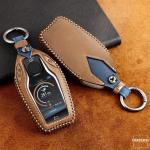 Premium Leder Cover passend für BMW Schlüssel + Anhänger  LEK60-B8