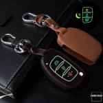 Luminous glow leather key case/cover for Hyundai car keys
