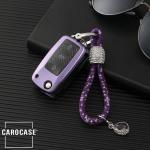 Glossy Carbon-Look Schlüssel Cover passend für Volkswagen, Skoda, Seat Schlüssel  SEK14-V2