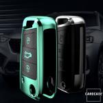 Glossy Carbon-Look Schlüssel Cover passend für Volkswagen, Skoda, Seat Schlüssel  SEK14-V3