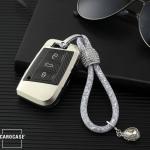 Glossy Carbon-Look Schlüssel Cover passend für Volkswagen, Skoda, Seat Schlüssel  SEK14-V4