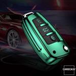 Glossy Carbon-Look Schlüssel Cover passend für Audi Schlüssel  SEK14-AX3