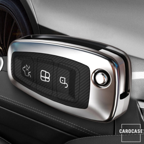 Glossy Carbon-Look Schlüssel Cover passend für Ford Schlüssel  SEK14-F4