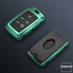 Glossy Carbon-Look Schlüssel Cover passend für Land Rover, Jaguar Schlüssel  SEK14-LR1