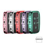 Glossy Carbon-Look Schlüssel Cover passend für Land Rover, Jaguar Schlüssel  SEK14-LR2