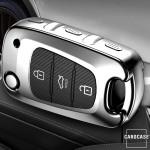 Glossy Carbon-Look Schlüssel Cover passend für Hyundai, Kia Schlüssel  SEK14-D5